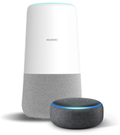 Huawei AI Cube with Amazon Echo Dot